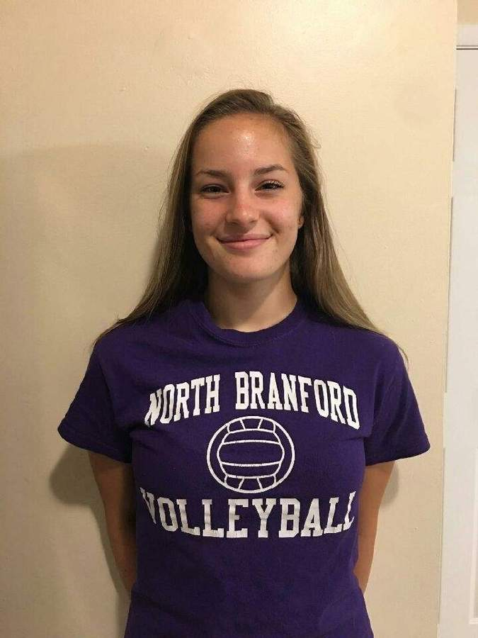 Emily Olson wanted to lead the North Branford girls' volleyball team as a senior captain, and now she has her opportunity to do just that. Photo courtesy of Emily Olson
