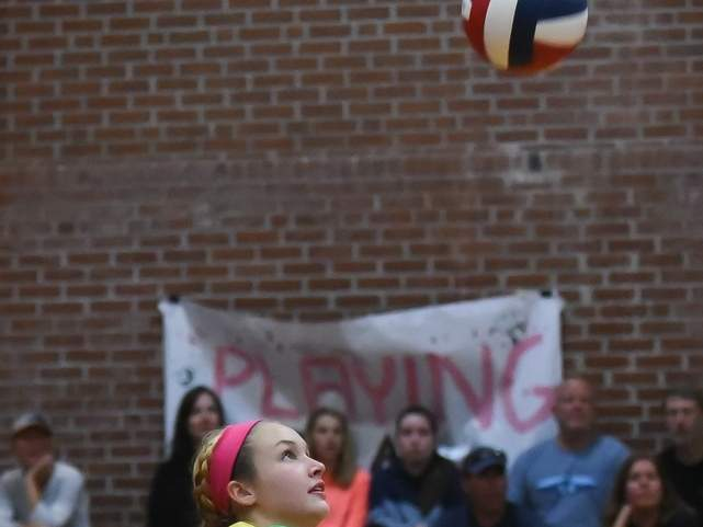 Emma Counter and her colleagues on the Valley volleyball squad were permitted to start participating in non-contact sport-specific skillwork on Aug. 29 after the CIAC made its decision to resume all fall sports activities. File photo by Kelley Fryer/The Courier