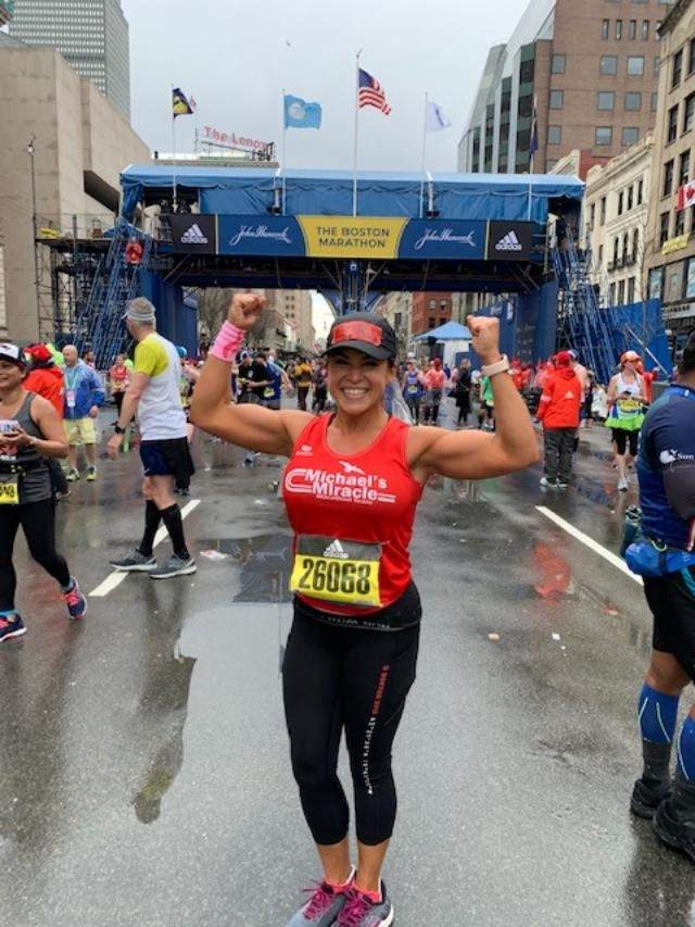 While the COVID-19 pandemic may have put the brakes on the traditional Boston Marathon, Loriann Mancuso will complete the race locally, her fourth marathon with the Michael Carter Lisnow Respite Center in Hopkinton, Massachusetts, as the beneficiary. Photo courtesy of Loriann Mancuso