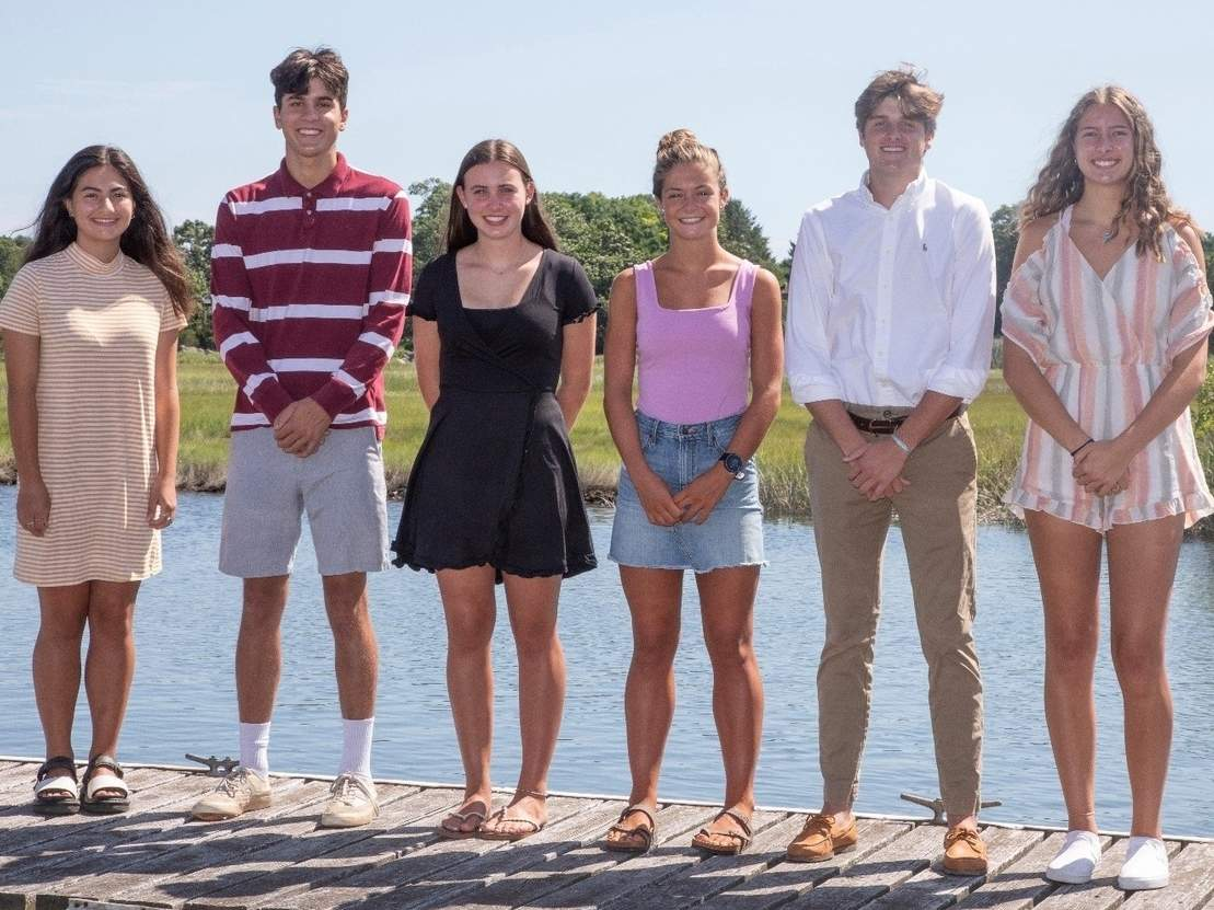 Bill's Seafood Restaurant recently named the winners of its annual Scholar Athlete Scholarship Awards. Pictured are Samantha Calamari (Valley Regional), Brian Rankin (Valley Regional), Delaney Mastriano (Morgan), Grace Hanratty (Old Saybrook), Gino Gallitto (Old Saybrook), and Alexandria Young (Westbrook). Missing from the photo is Alex Kadlof (Morgan). Photo courtesy of Paula MacDonald