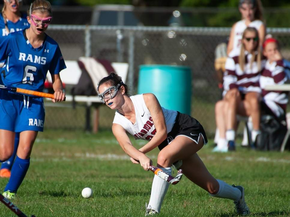 Junior captain Margaret Jacaruso and the Valley Regional field hockey team has had to adapt on the fly after seven players decided to opt out of the fall season. Jacaruso plays right wing for the Warriors. File photo by Kelley Fryer/The Courier