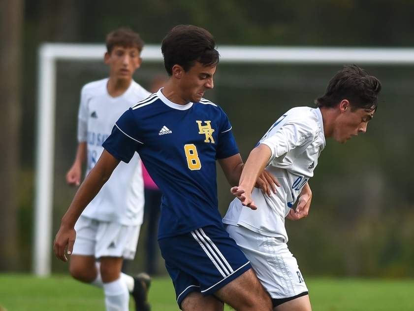 Timothy Carter and the H-K boys' soccer squad are hosting Hamden Portland in their 2020 season opener on Thursday, Oct. 1. File photo by Kelley Fryer/The Source