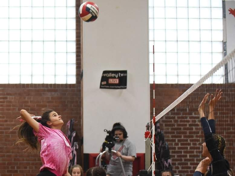 Ava Boyles and the Valley Regional volleyball team are on the road to face Old Lyme in their first contest of the 2020 fall season. File photo by Kelley Fryer/The Courier