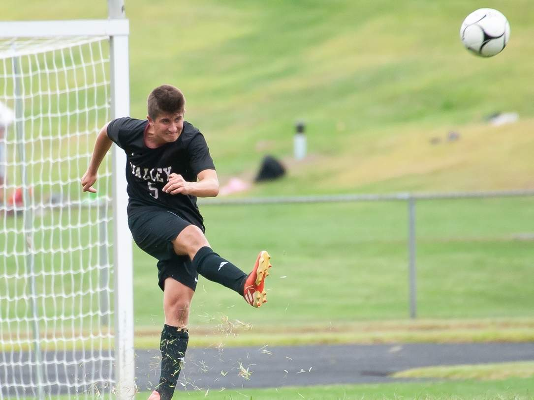 Senior captain Michael Brooks and the Valley Regional boys' soccer team have been preparing for the upcoming season and ramping up their practices prior to the start of the 2020 campaign. This will be Brooks's fourth year on the Warriors' varsity squad.  File photo by Kelley Fryer/The Courier
