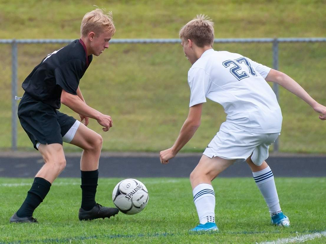 Jake Burdick and the Valley boys' soccer team earned a 7-1 victory over Hale-Ray on Oct. 1. Burdick supplied the Warriors with a goal and an assist in the win.  File photo by Kelley Fryer/The Courier