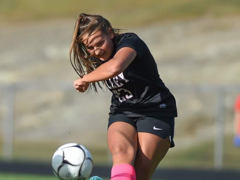 Junior Ellie Cost and the Valley Regional girls' soccer squad played an great all-around game in their 7-0, season-opening victory against Shoreline Conference opponent Hale-Ray. File photo by Kelley Fryer/The Courier