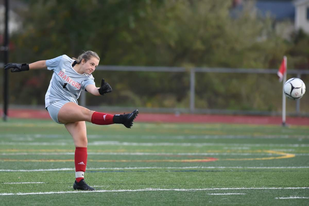 Branford girls soccer team  beat East Haven 1-0 at Branford High School. Macey Girard  (1)Photo by Kelley Fryer/The Sound