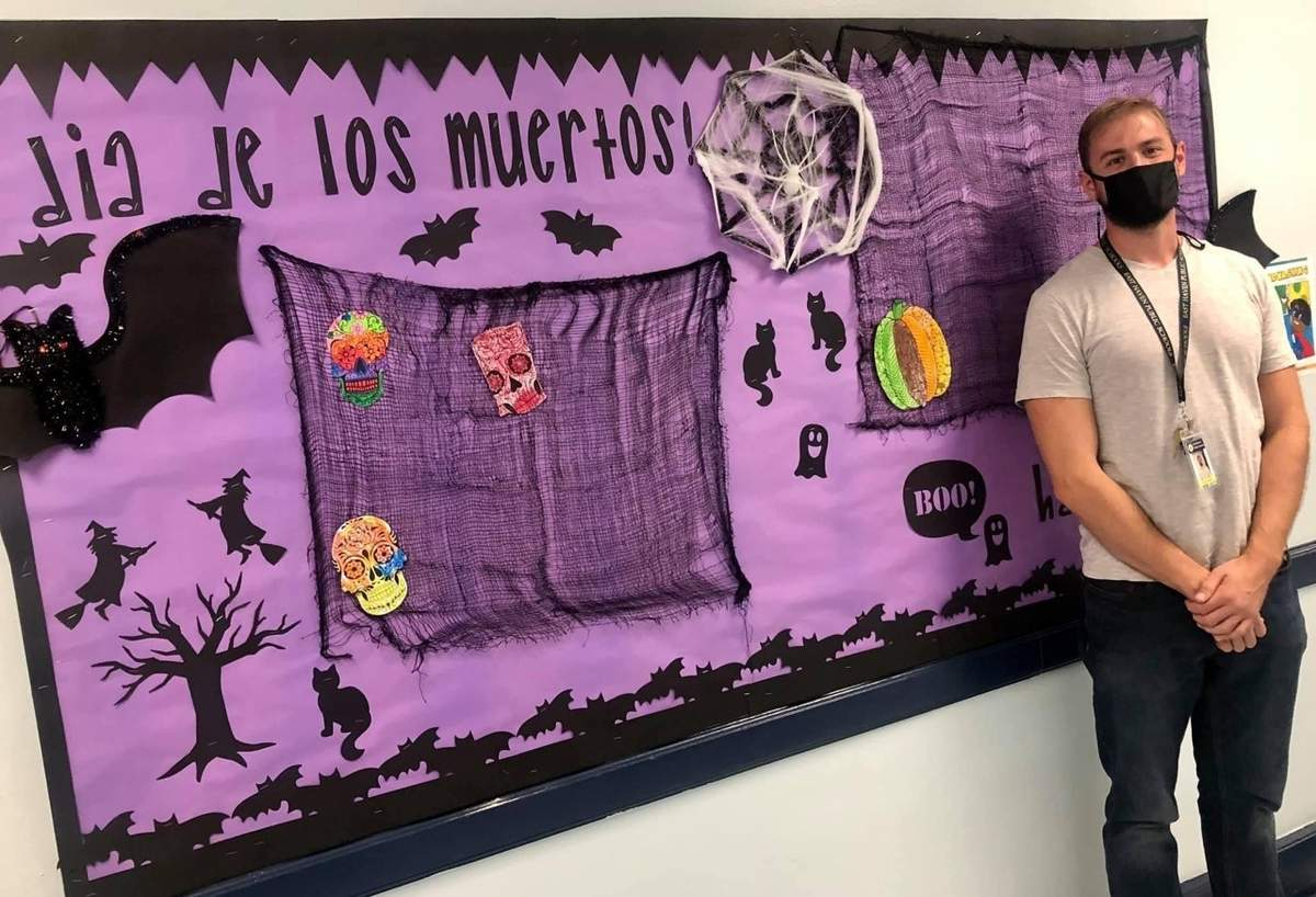 Sean Mumford returned to the school district he attended when he was younger and is now a 4th-grade teacher at Momauguin Elementary School. Photo courtesy of Momauguin Elementary School