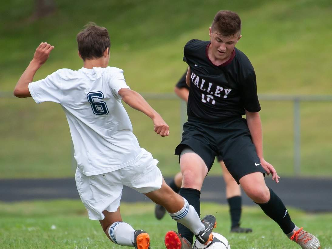Ryan Silva and the Valley Regional boys' soccer squad picked up two more wins in last week's action to move to 3-0 on the season. Silva notched an assist in both games for the Warriors. File photo by Kelley Fryer/The Courier