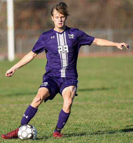 Luca Troop and the Westbrook boys' soccer squad has had some narrow defeats as they search for their first triumph of the year. File photo by Kelley Fryer/Harbor News