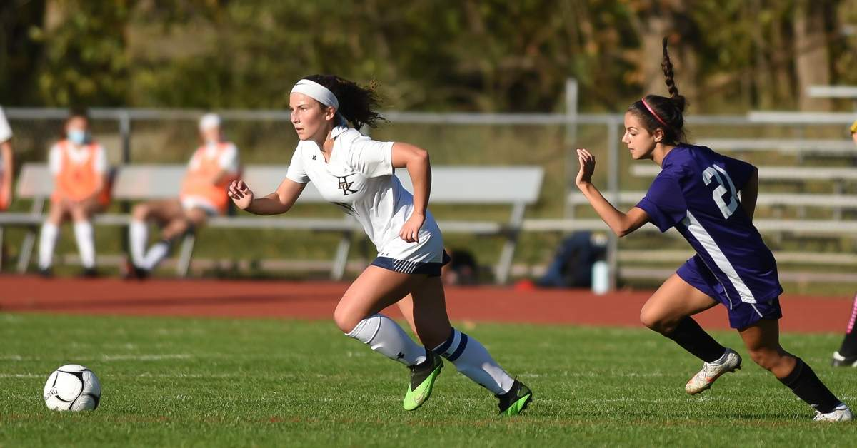 Haddam-Killingworth girls soccer beat North Branford 5-0 at North Haven High School. Kaitlyn Parri (11) Photo by Kelley Fryer/The Source