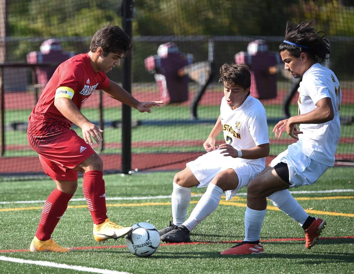Branford boys soccer beat East Haven 5-0 at home. Raffaele Ciarleglio  (7) Photo by Kelley Fryer/The Sound