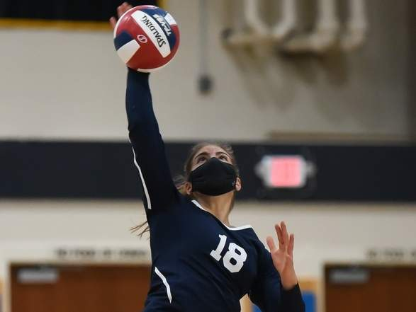 Captain Tori Heaphy is one of seven seniors who has guided the East Haven girls' volleyball squad to a 5-2 record through its first seven matches of the 2020 fall season. File photo by Kelley Fryer/The Courier