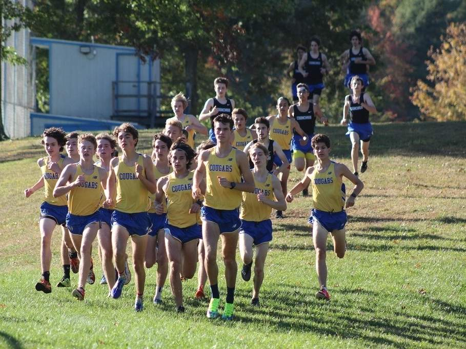 The Haddam-Killingworth boys' cross country team is having another great season in 2020. The Cougars are 5-0 on the year and most recently swept a meet against Valley Regional and North Branford. Photo courtesy of Matt Diglio