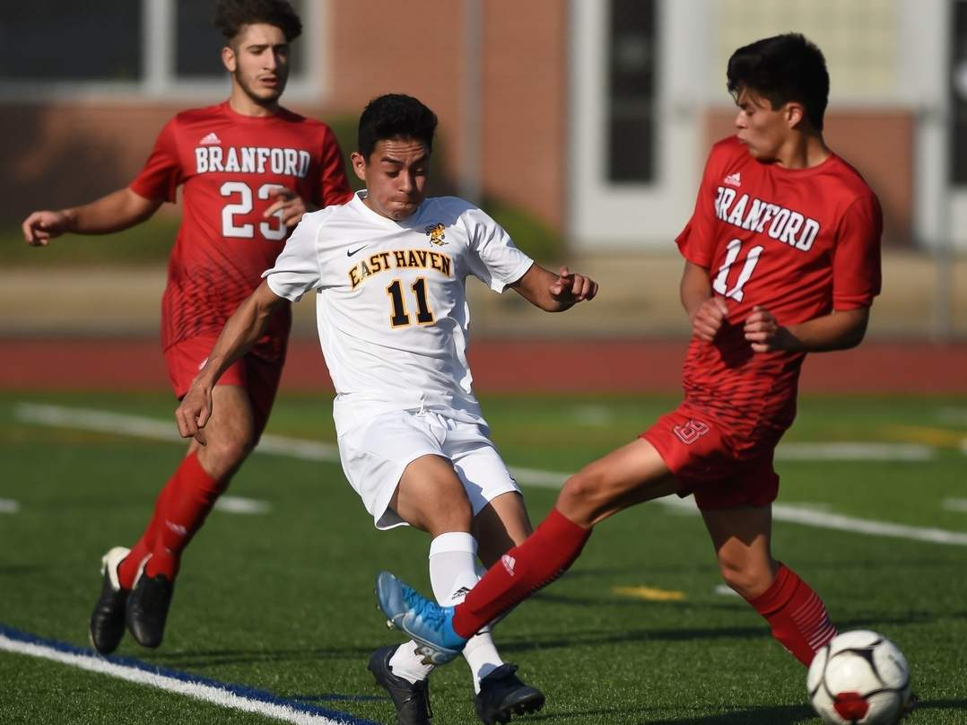 Senior Victor Calvillo assisted on one of the Easties' six goals when they claimed a 6-1 road win versus Whitney Tech for win No. 2 on the year. File photo by Kelley Fryer/The Courier