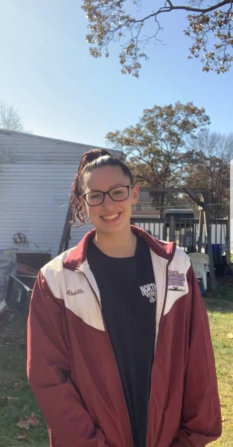 Junior Abrielle Osborne has set lifetime-best marks in two events with the North Haven girls' swimming and diving squad this fall. Abrielle had to miss two weeks due to quarantine, but is looking forward to competing at SCCs this week. Photo courtesy of Abrielle Osborne
