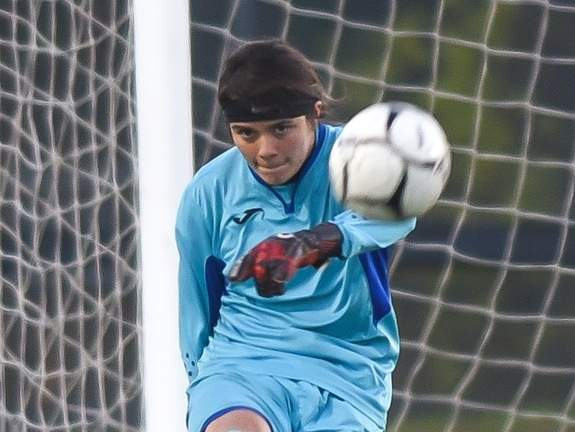 Senior captain goalkeeper Angelina Munoz helped the East Haven girls' soccer team have a solid season that featured five wins and two ties, including a victory in the SCC Division B Tournament. File photo by Kelley Fryer/The Courier