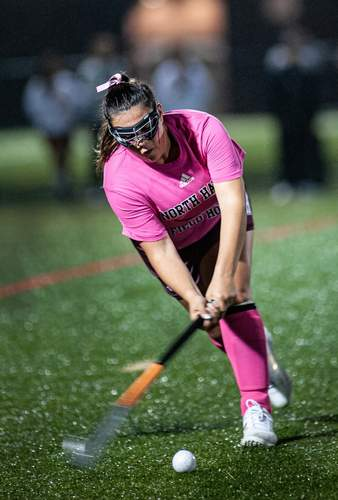 Senior captain Mariella Biceglia earned All-SCC Division B accolades on behalf of the North Haven field hockey team this fall. File photo by Susan Lambert/The Courier
