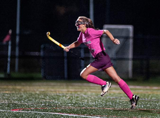 Junior Juliana DeAngelo netted four goals and assisted on three others for North Haven during the 2020 season. File photo by Susan Lambert/The Courier