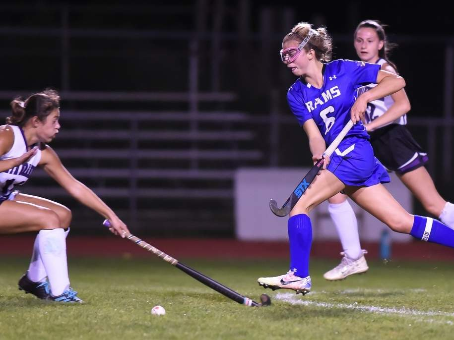Senior captain forward Taylor Stone and the Old Saybrook field hockey team turned in a 7-3-1 overall record this year. Stone earned the Shoreline Conference Player of the Year with 15 goals and seven assists. File photo by Kelley Fryer/Harbor News