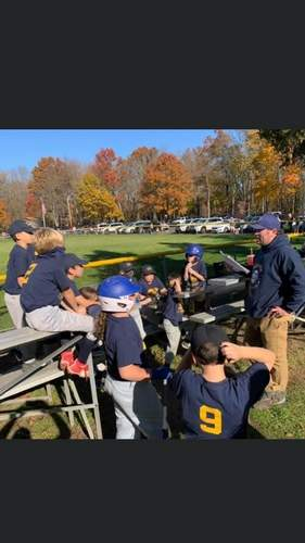 Head Coach Peter Gennette (right) was proud of his ballplayers on the East Haven U-10 fall ball team for putting together a championship campaign last year.   Photo courtesy of Peter Gennette
