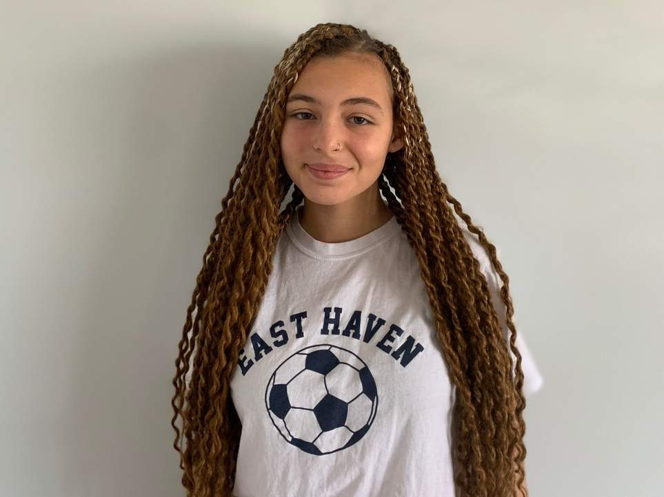 Senior Teal Graziano spent her last two years of high school competing for the East Haven girls' soccer squad, finishing her career as a varsity player last fall. Photo courtesy of Teal Graziano