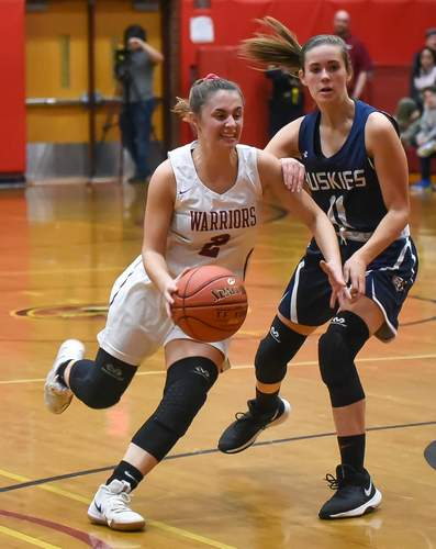 Basketball teams can start practicing this week as they get ready for the winter campaign. Pictured is Addison Marchese, a senior member of the Valley Regional girls' basketball squad. File photo by Kelley Fryer/The Courier
