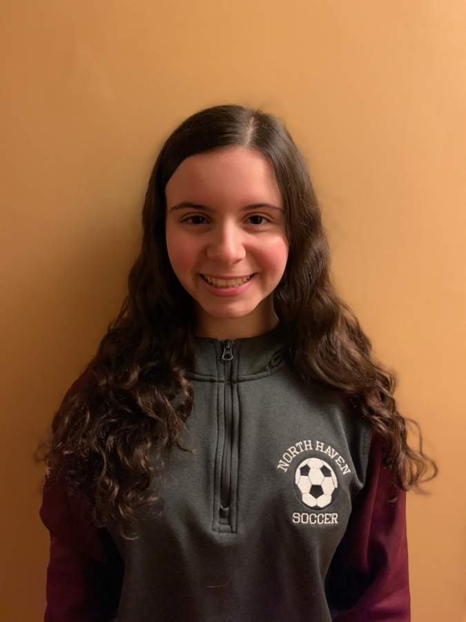 Sophomore Giavanna Damone garnered All-SCC Division A accolades for her excellent play on defense with the North Haven girls' soccer team last fall. Photo courtesy of Giavanna Damone