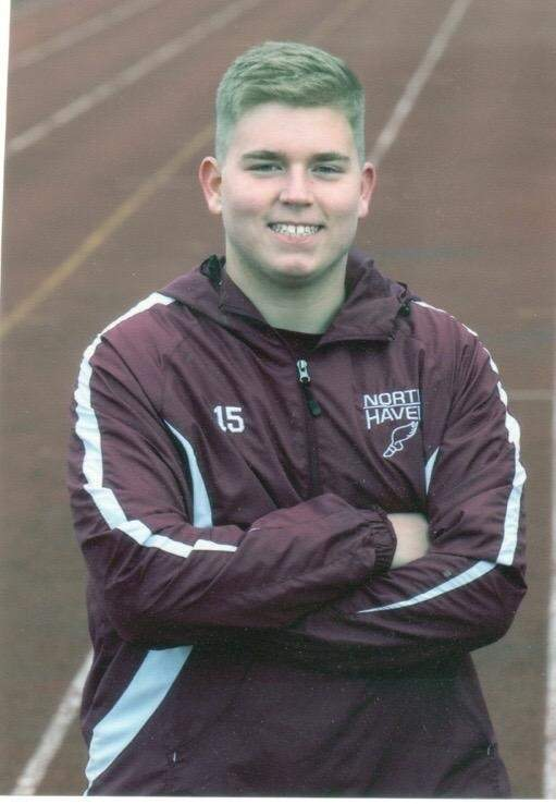 Senior Ryan Ziaks has given it his all while competing for North Haven's football and track teams during his high school tenure.   Photo courtesy of Ryan Ziaks
