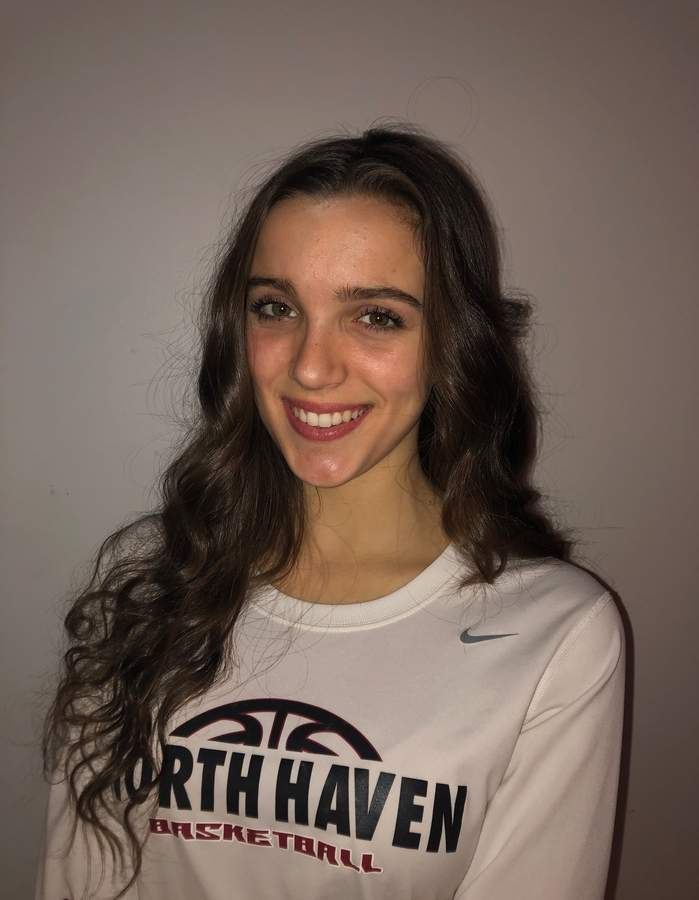 Sarah Puzone has been on the basketball court throughout her life and is now leading the North Haven girls' basketball team as a senior captain this winter. Photo courtesy of Sarah Puzone