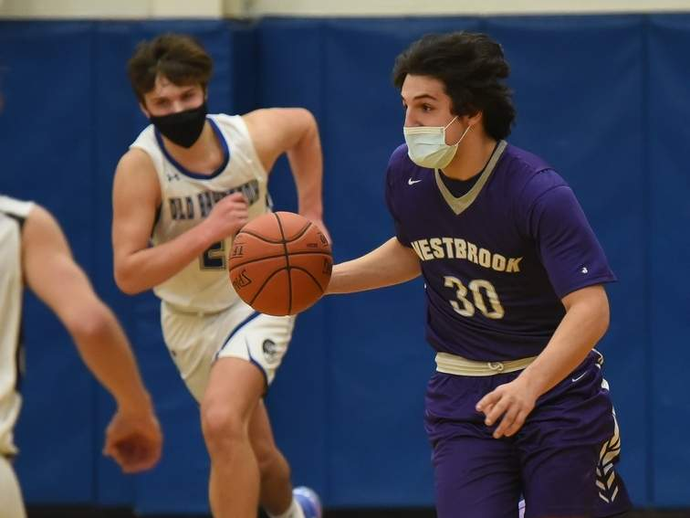 Senior captain Jack Naccarato and the Westbrook boys' basketball squad lost a pair of games last week to move to 1-7 on the year. Jack Naccarato poured in 21 points in a loss against Cromwell on March 1. File photo by Kelley Fryer/Harbor News