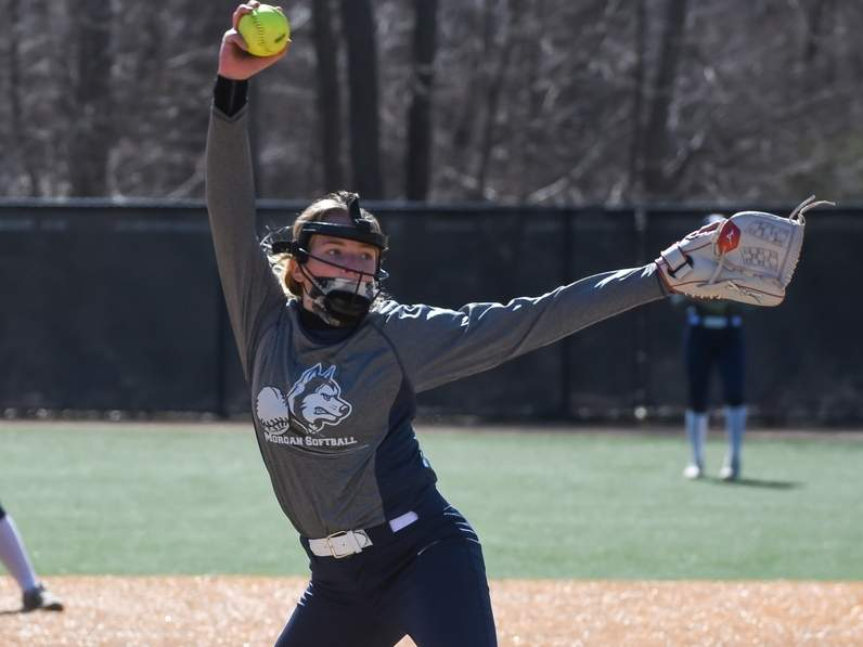 Sophomore pitcher Kacey Edwards and the Morgan softball squad earned a decisive win over East Hampton on April 10. Edwards pitched seven innings and stuck out nine batters.  File photo by Kelley Fryer/Harbor News
