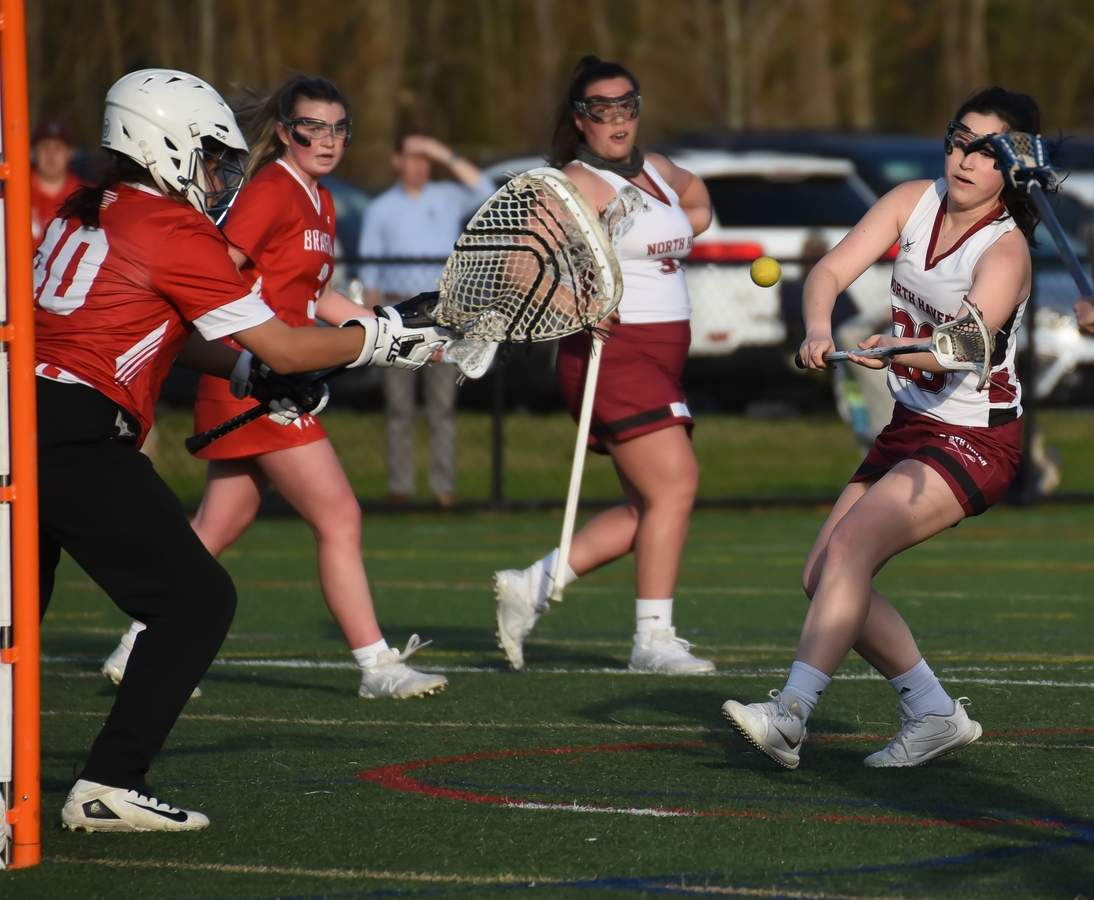 North Haven Girls Lacrosse lost 6-10 to Branford at home. Eliza O'Connor  (20) Photo by Kelley Fryer/The Courier