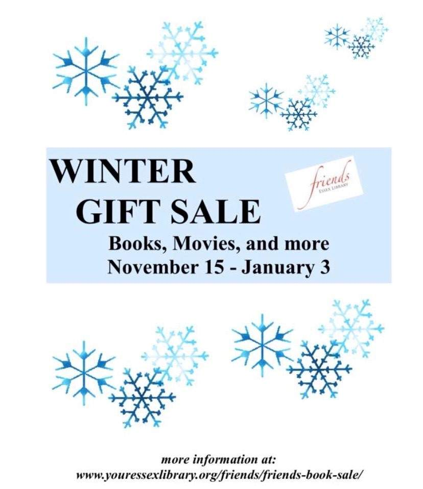 Friends of the Essex Library Winter Gift Sale