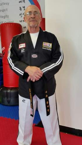 Bruce Gallup is head instructor at World Champion Taekwondo in East Haven.   Photo by Elise Gallup