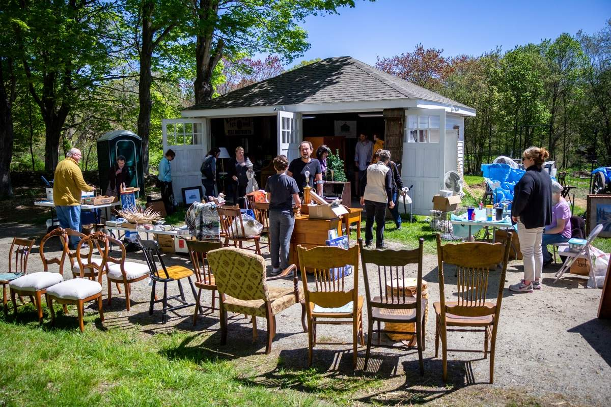 The Killingworth Historical Society held their annual Spring Tag Sale at Parmelee Farm on Saturday, May 11, 2019. Proceeds support educational programs, preserve artifacts, and maintain the SocietyþÄôs properties. Photo by Meglin Bodner/The Source