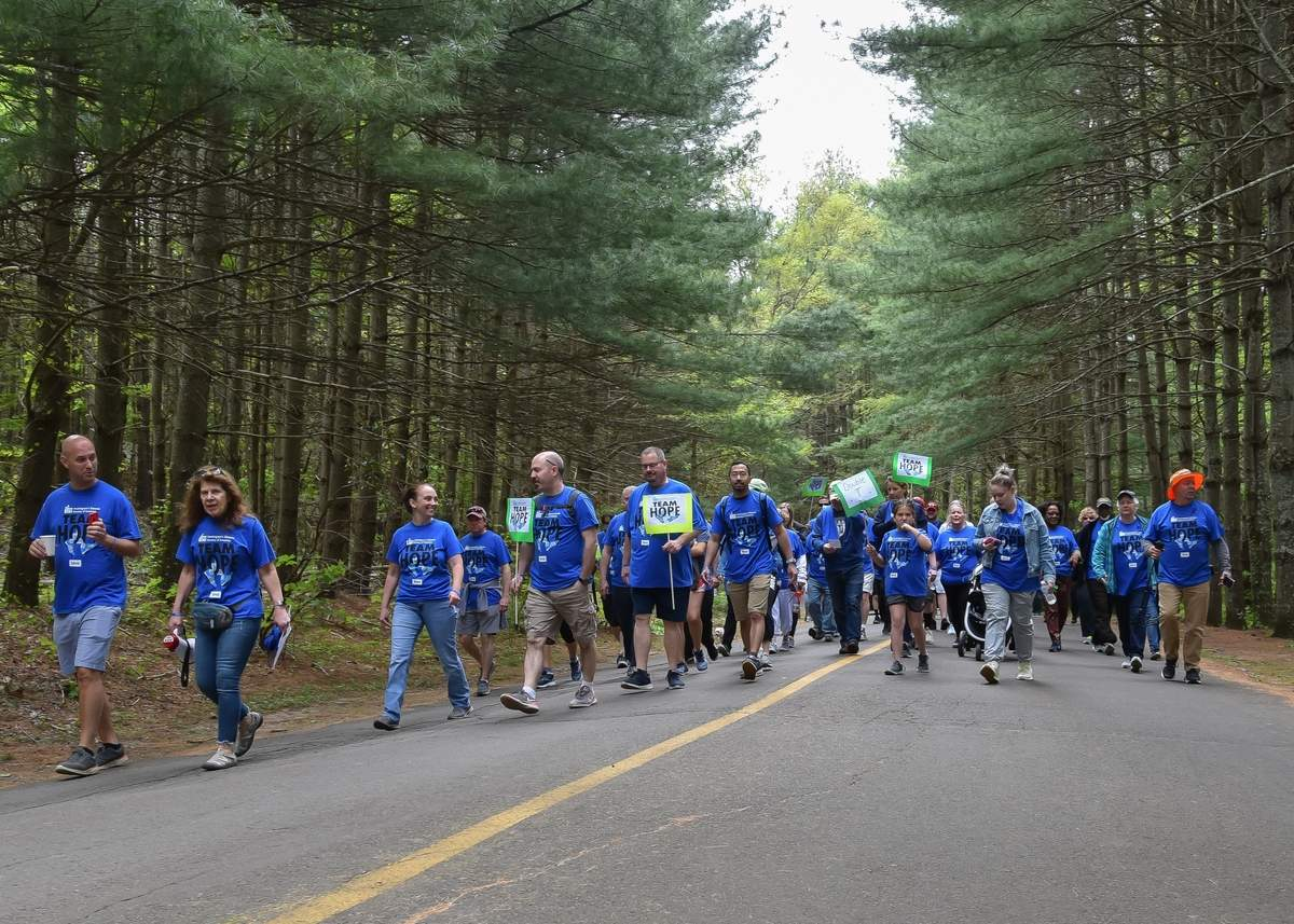 The Conneticut Team Hope Walk was held at Chatfield Hollow State Park Sunday morning raisning money for the Huntington's Disease Society of America, with around 124 participants and over eight thousand dollars raised according to the web site stats.  Photo by Kelley Fryer/The Source