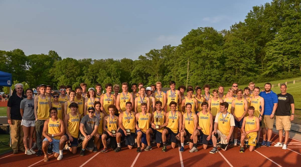 Haddam-Killingworth boys outdoor track team won the Shoreline Conference Championship. Photo by Kelley Fryer/The Source