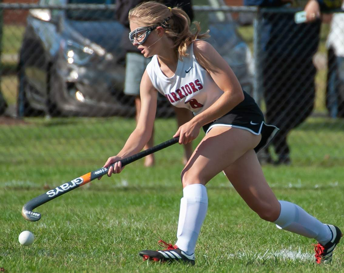 Valley lost 0-2 to Old Saybrook at home. Ruby O'Lynnger (8) Photo by Kelley Fryer/The Courier