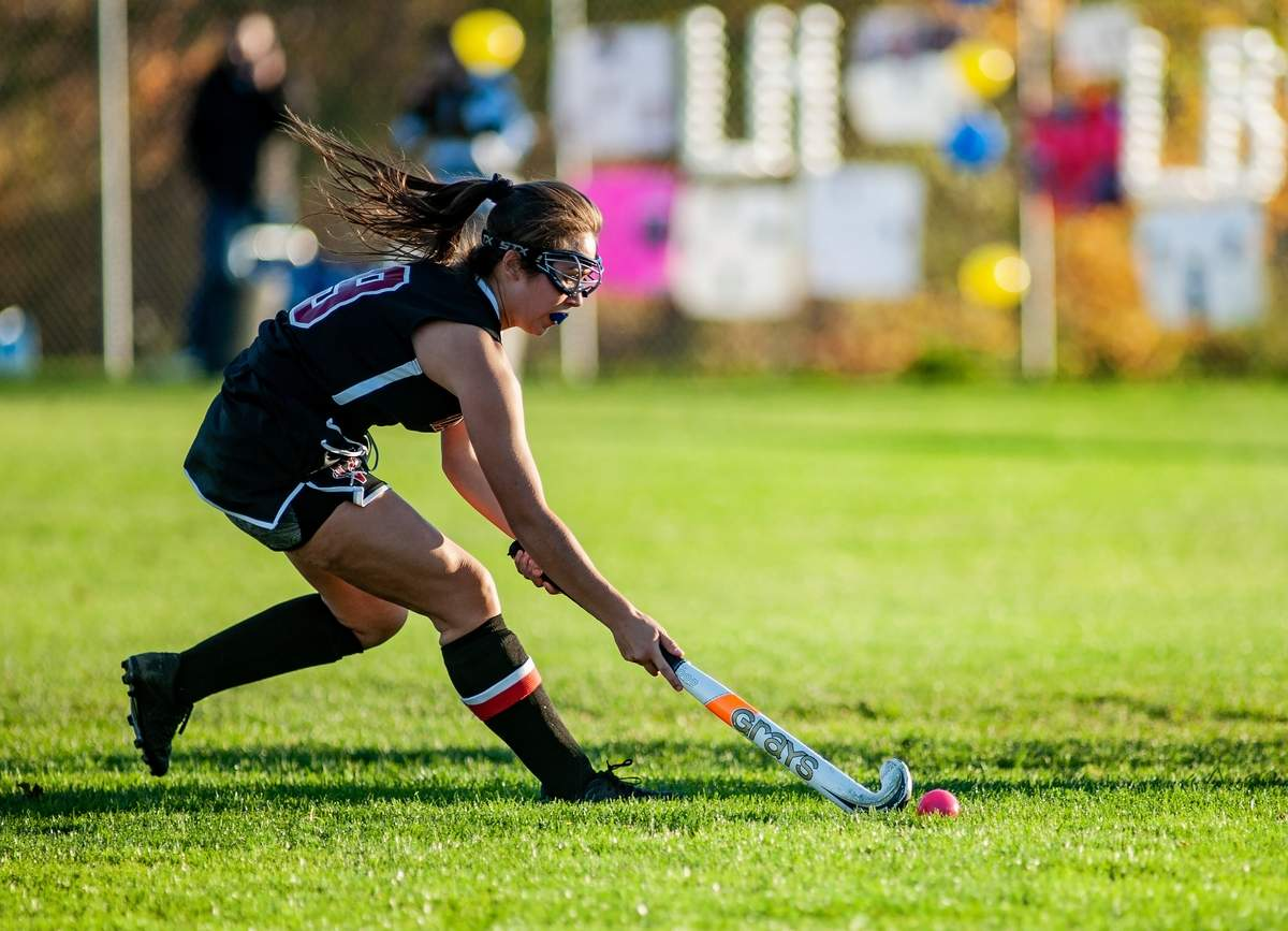 Haddam-Killingworth hosted Valley Region Wednesday October 23rd, 2019  for a field hockey match.   Valley Regional won the match 8-1.  9- Riley Milburne  Photo by Susan Lambert/The Courier
