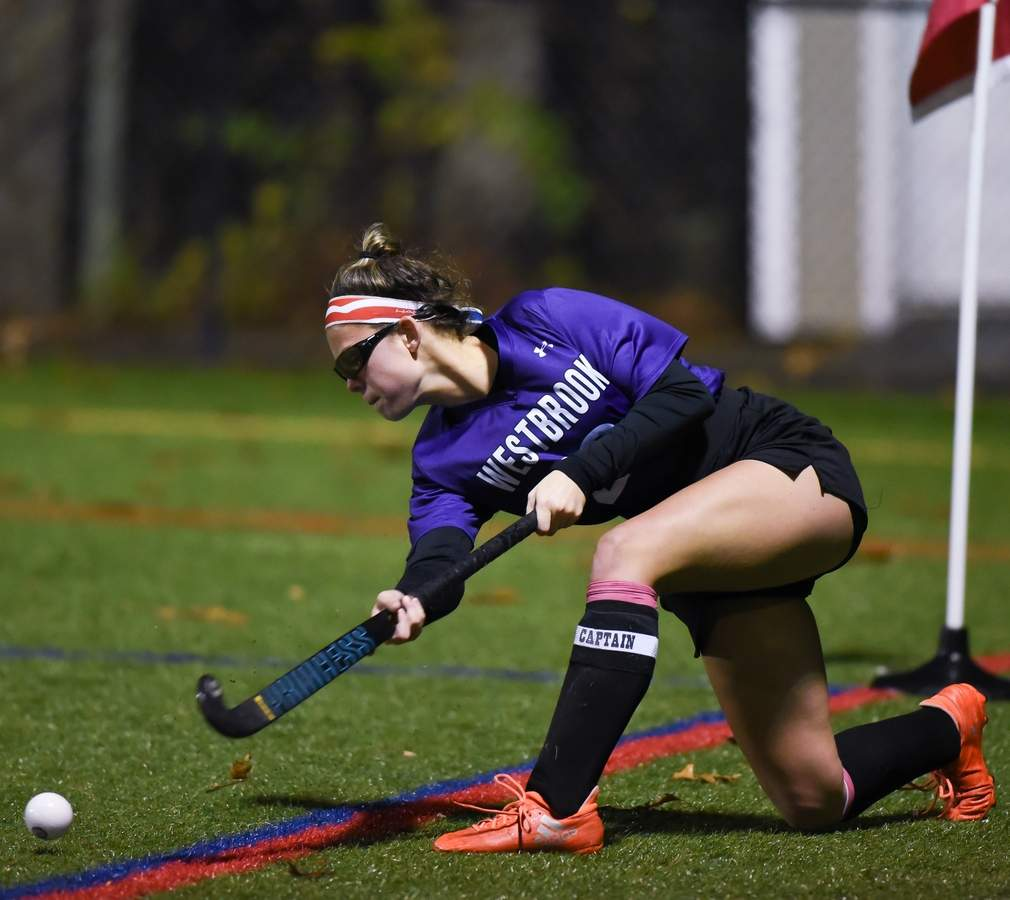 Westbrook field hockey lost to North Branford in the Shoreline Conference Championship 1-2 at the Indian RIver Complex in Clinton. Kendall Orlowski  (20)  Photo by Kelley Fryer/Harbor News