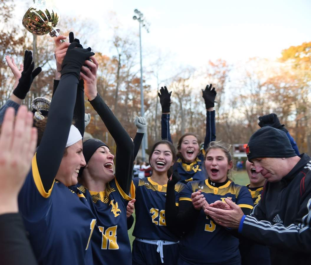 Haddam Killingworth won the Shoreline Conference Championship beating Valley Regional 3-2 at the Indian River Complex, Clinton. Photo by Kelley Fryer/The Source