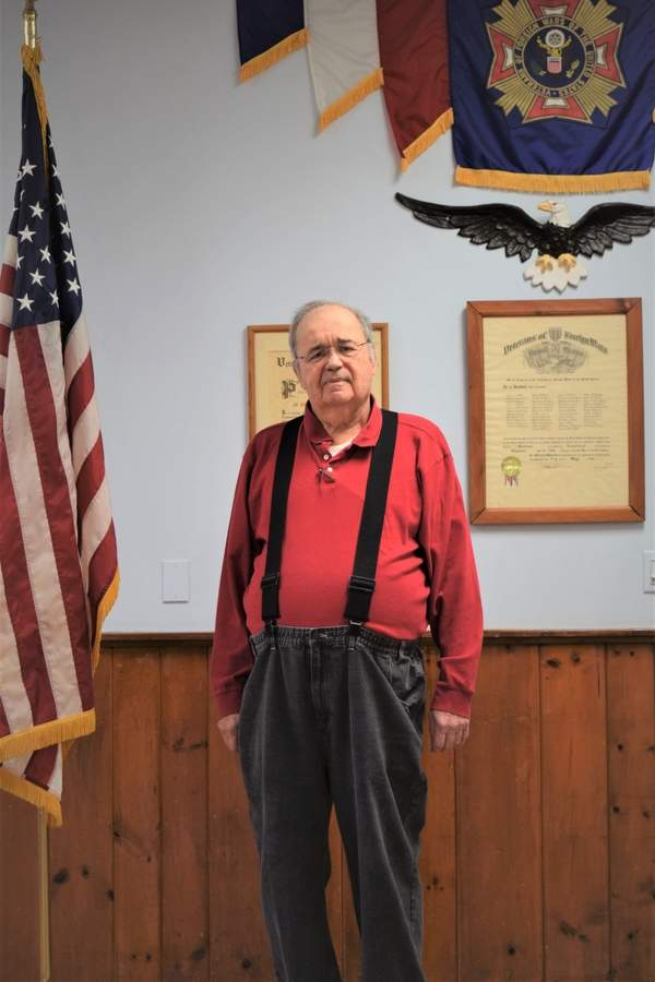 "At the Madison VFW Post 2096, Larry Brundrett serves veterans and their families as commander, the highest officer in a local post. ""It's given me a sense of service to my fellow veterans,"" he says about helping his military comrades.   Photo by Maria Caulfield/The Source"