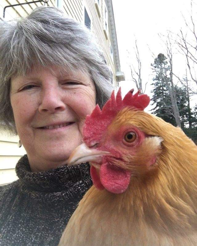 Nancy McCormick (accompanied here by T.C. the chicken) has helped reinvigorate the Literacy Volunteers Valley Shore organization, which serves the towns of Chester, Clinton, Deep River, Essex, Guilford, Killingworth, Lyme, Madison, Old Lyme, Old Saybrook, and Westbrook. Photo by Mark McCormick