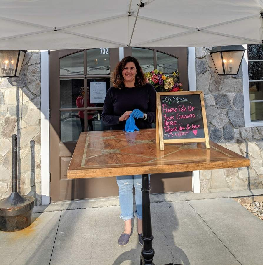 Juliana Pisanzio of La Marea Ristorante is one of the restaurateurs taking part in the Old Saybrook Chamber of Commerce's Great Takeout Giveaway. Photo courtesy of the Old Saybrook Chamber of Commerce