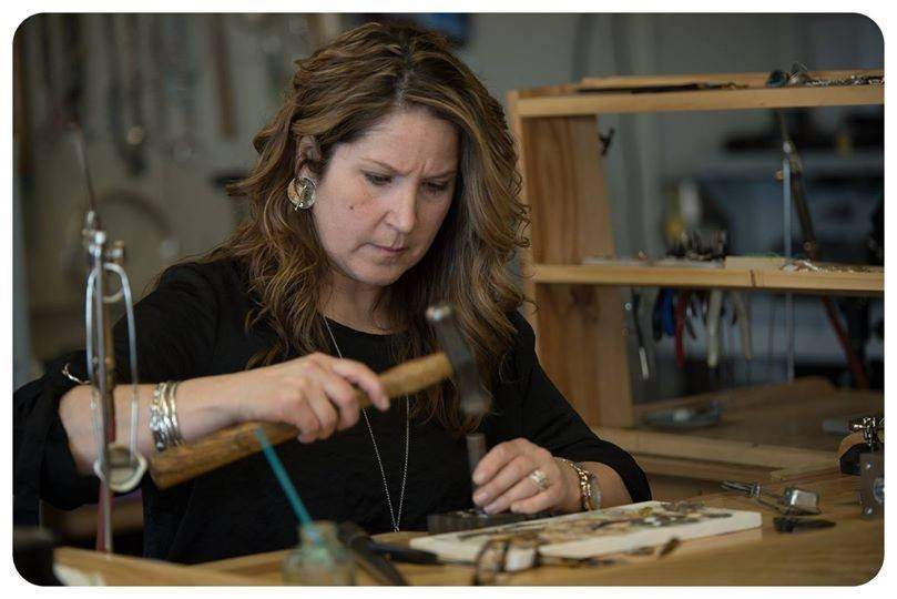 As a small business owner hard hit by the coronavirus pandemic, Old Saybrook jewelry designer Alicia Winalski is relying on a zero-interest line of credit for women- and minority-owned businesses funded by the state. Photo by Sandra Dalton