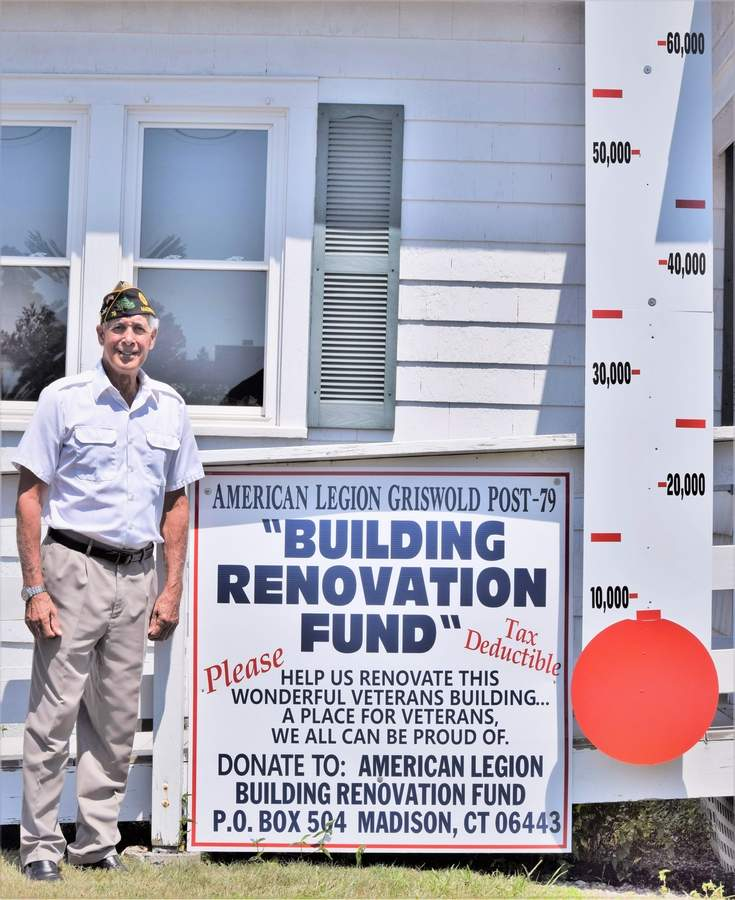 Charlie Corso became the new commander of American Legion Griswold Post 79 last June. As commander, he is embarking on a fundraising effort for the renovation of the Legion post building at 43 Bradley Road, Madison. Photo by Maria Caulfield/The Source