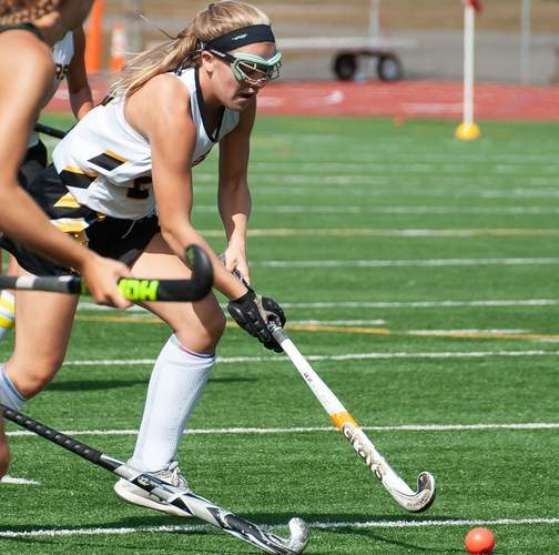 Grace Hartmann is one of seven senior captains who will be leading the Hand field hockey team during the 2020 season. File photo by Kelley Fryer/The Source