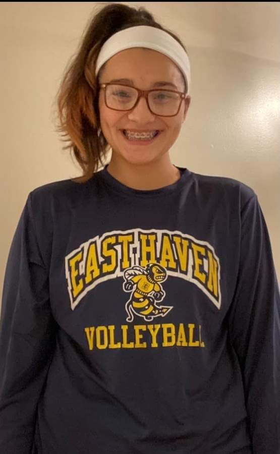 Senior Megan Gaudioso has been on a mission to become the best volleyball player she can be after getting cut from the team at Joseph Melillo Middle School when she was in 6th grade. Photo courtesy of Megan Gaudioso
