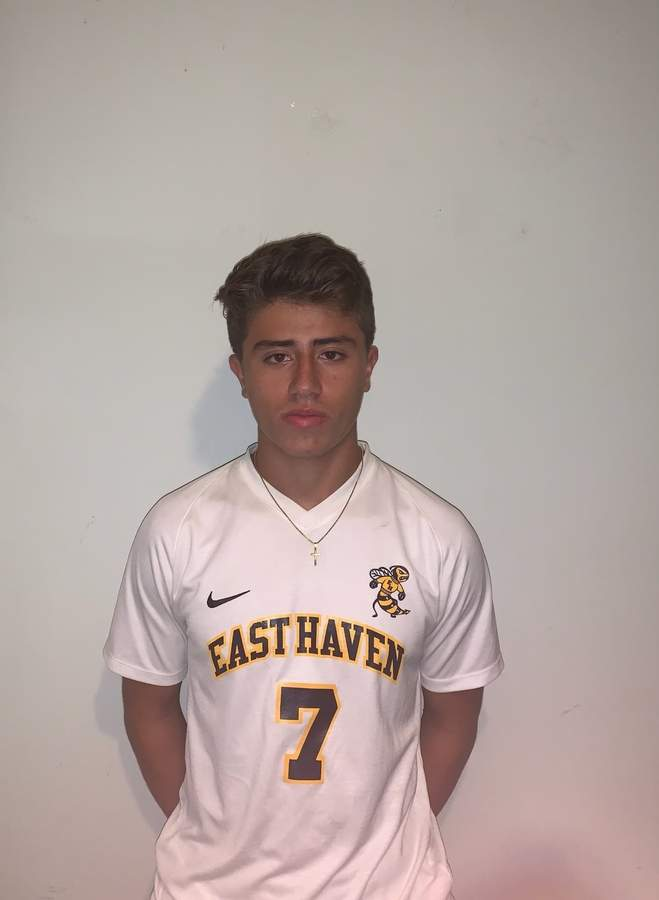 Luis Agudelo feels happy to have returned for his senior season with the East Haven boys' soccer squad this fall. Photo courtesy of Luis Agudelo